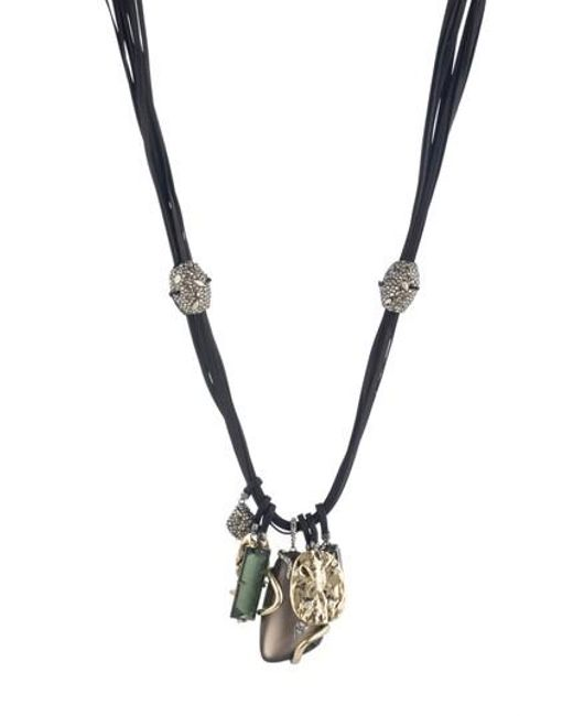 Alexis Bittar | Metallic Lucite Charm Necklace | Lyst
