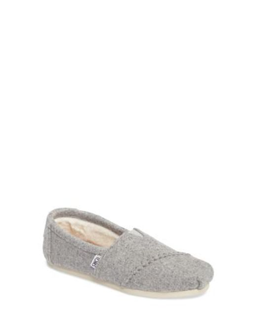 TOMS | Gray 'classic Knit' Slip-on | Lyst