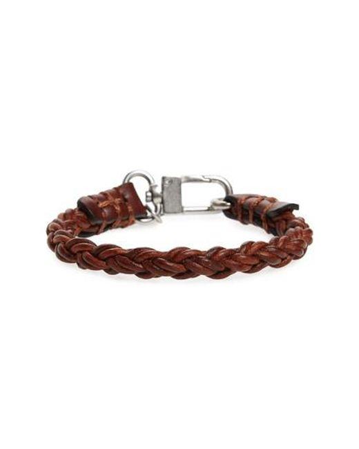 Caputo & Co. | Brown Leather Bracelet | Lyst