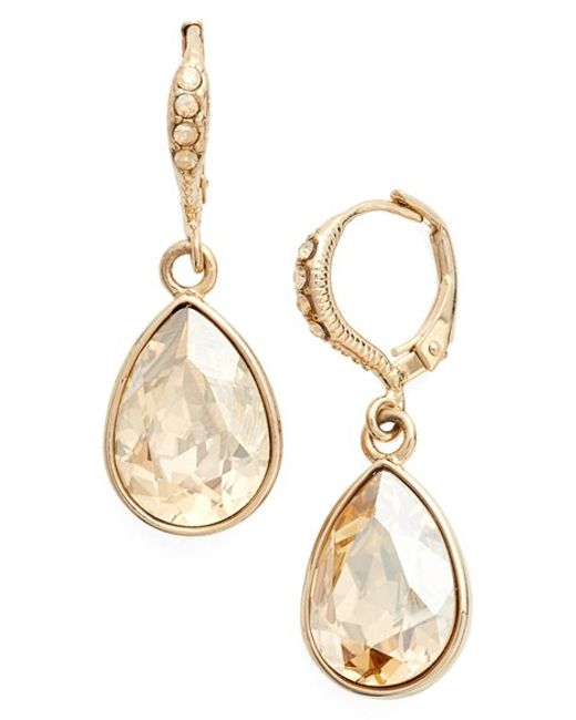 Givenchy | Metallic Small Teardrop Earrings | Lyst