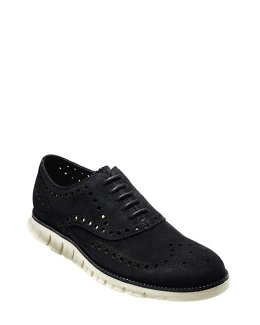Cole Haan | Black 'zerogrand' Wingtip Oxford for Men | Lyst