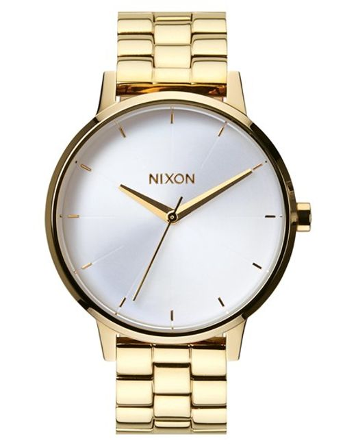 Nixon   Metallic 'the Kensington' Bracelet Watch   Lyst