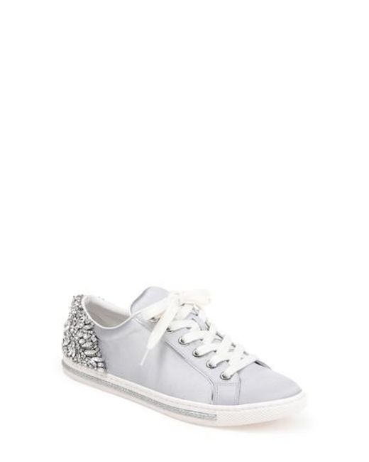 Badgley Mischka Women's Shirley Crystal Embellished Sneaker oyBdq0pFr
