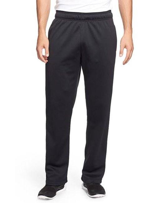 Under Armour | Black Loose Fit Moisture Wicking Fleece Pants for Men | Lyst