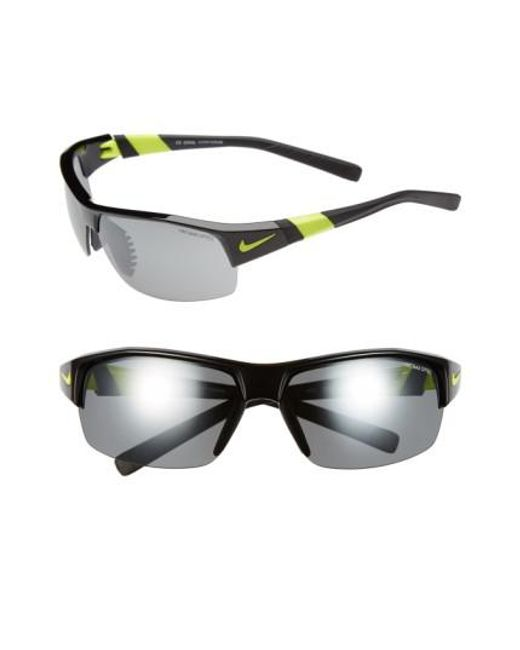 Nike   Black 'show X2' Semi Rimless 69mm Sunglasses for Men   Lyst