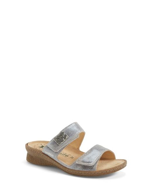 Mephisto | 'Bregalia' Metallic Leather Sandal | Lyst
