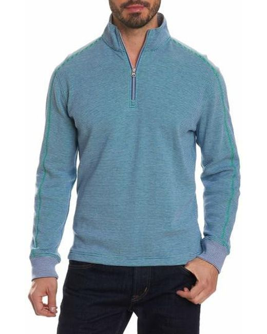 Robert Graham | Blue Easy Rider Quarter Zip Pullover for Men | Lyst