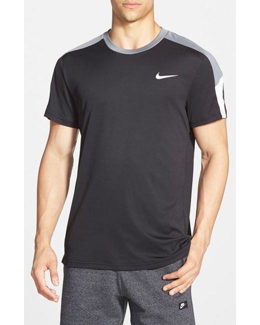 Nike | Black 'team Court' Dri-fit T-shirt for Men | Lyst