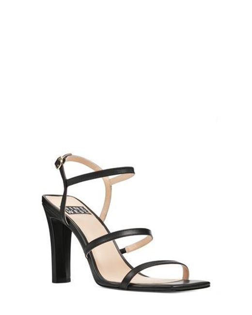 Nine West - Black Gabelle Strappy Sandal - Lyst