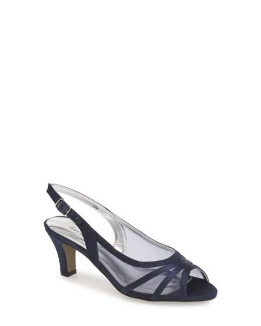 David Tate | Blue 'Petal' Open Toe Slingback Pump | Lyst