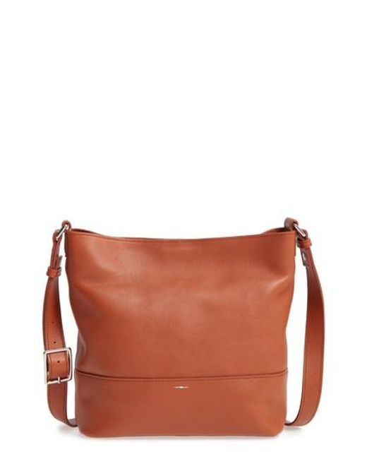 Shinola | Red Small Relaxed Leather Hobo Bag | Lyst