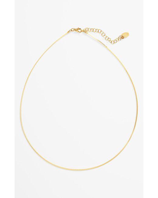 Argento Vivo - Metallic Flexible Collar Necklace - Lyst