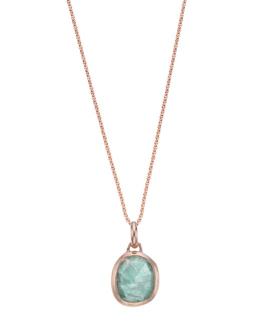 Monica Vinader - Metallic Siren Semiprecious Stone Pendant Necklace - Lyst