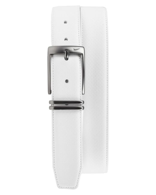 Nike - White Perforated Leather Belt for Men - Lyst