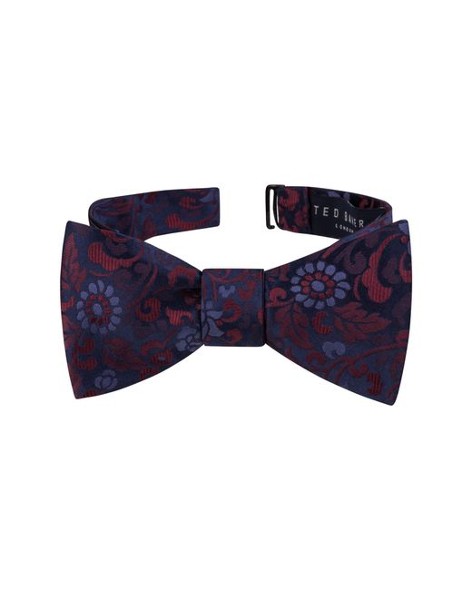 Ted Baker - Blue Floral Silk Bow Tie for Men - Lyst