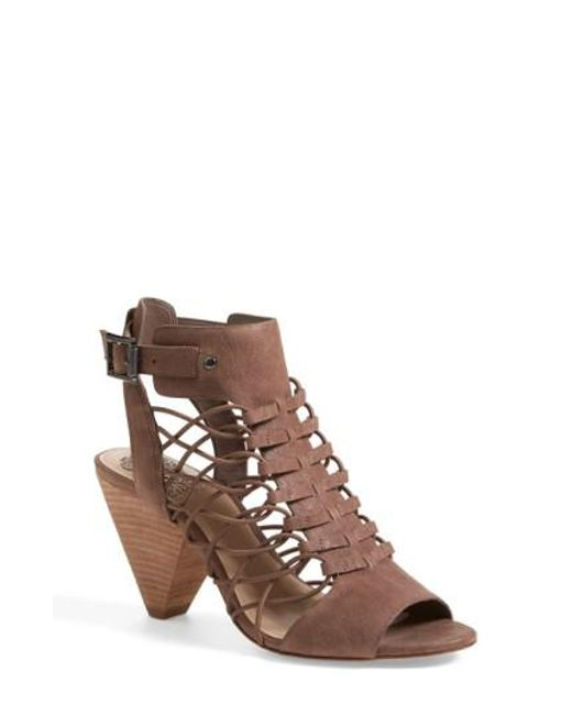Vince Camuto | Natural 'evel' Leather Sandal | Lyst