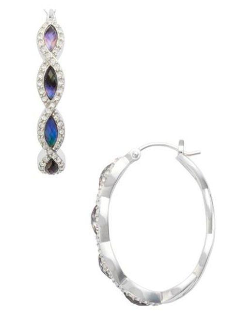 Judith Jack | Metallic Tropical Touches Hoop Earrings | Lyst