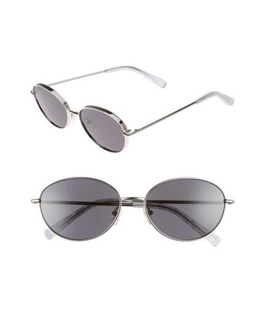Elizabeth and James - Metallic Fenn 57mm Oval Sunglasses - Lyst