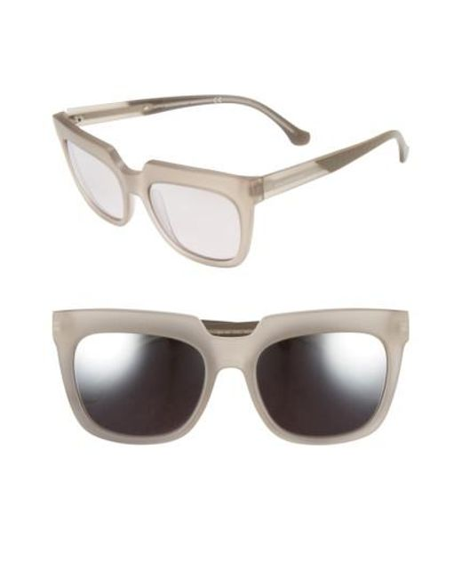 Balenciaga - Gray 55mm Sunglasses - Transparent Light Grey/ Dove - Lyst