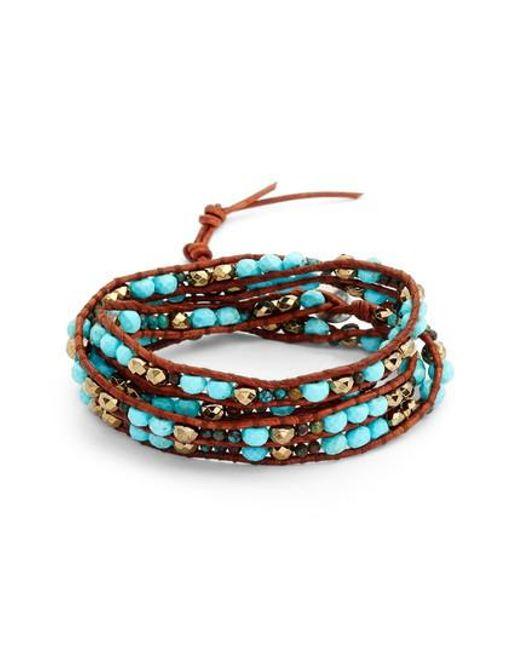 Chan Luu | Multicolor Mixed Semiprecious Stone Wrap Bracelet | Lyst
