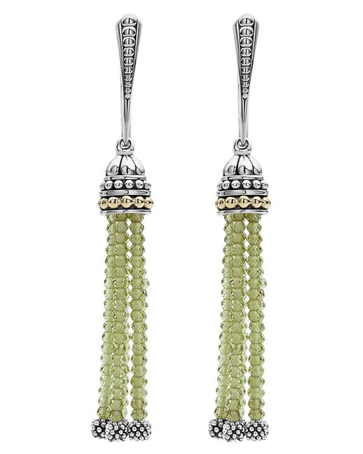 Lagos - Metallic Caviar Icon Tassel Drop Earrings - Lyst