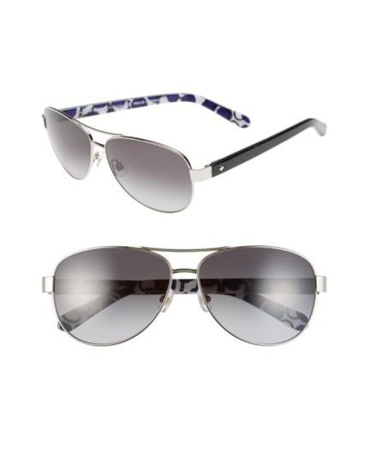 Kate Spade | Metallic 'dalia2' 58mm Aviator Sunglasses | Lyst