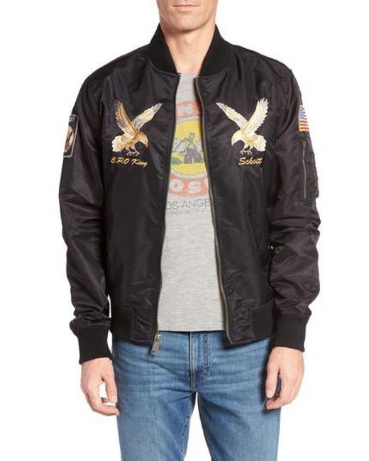 Schott Nyc | Black Uss Mississippi Bomber Jacket for Men | Lyst