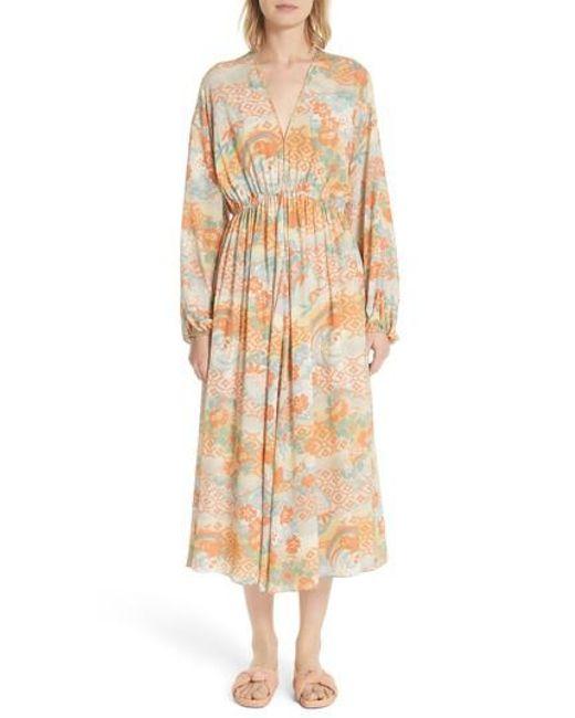 Elizabeth and James - Multicolor Norma Floral Print Silk Dress - Lyst