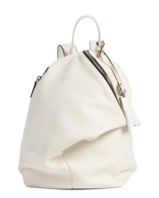 Vince Camuto | White Small Giani Leather Backpack | Lyst