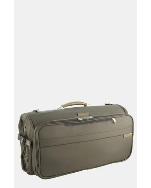 Briggs & Riley | Green 'baseline - Compact' Garment Bag for Men | Lyst