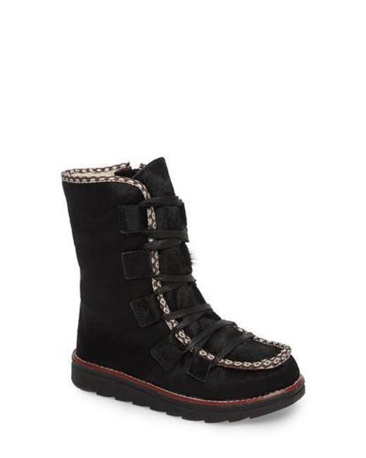 Royal Canadian | Black Kitchener Waterproof Genuine Calf Hair Snow Boot | Lyst