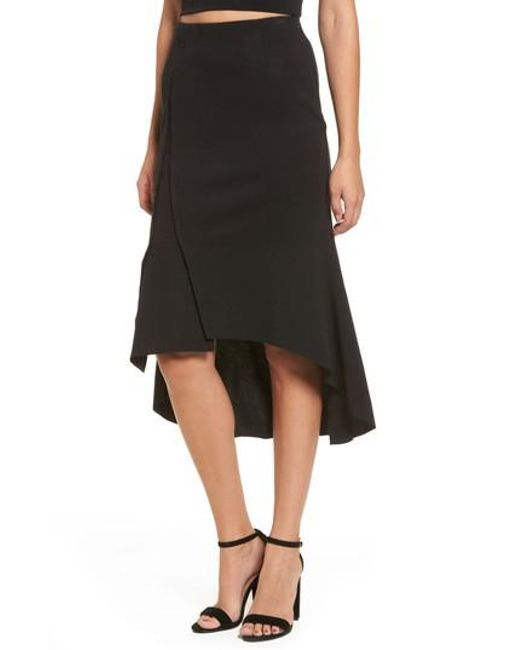 Moon River | Black Ruffle High/low Skirt | Lyst