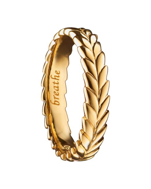 Monica Rich Kosann - Metallic Breathe 18k Gold Ring Charm - Lyst