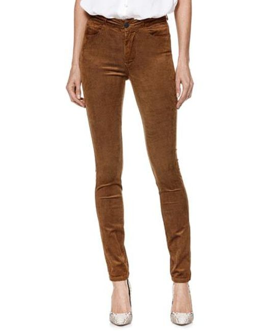 PAIGE - Brown Transcend - Hoxton High Waist Ultra Skinny Jeans - Lyst