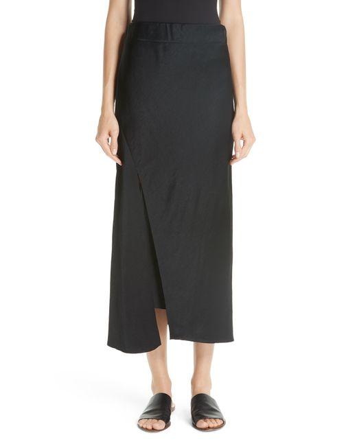Zero + Maria Cornejo Black Bias Slip Skirt