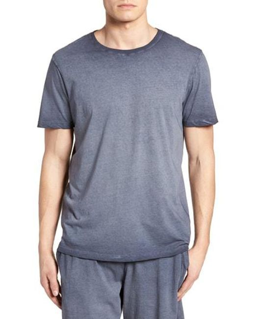 Daniel Buchler - Blue Peruvian Pima Cotton Crewneck T-shirt for Men - Lyst