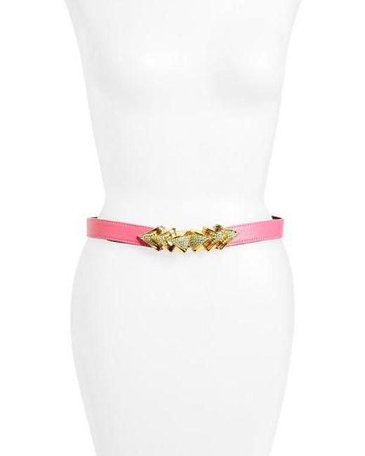 Raina - Pink Venice Leather Belt - Lyst