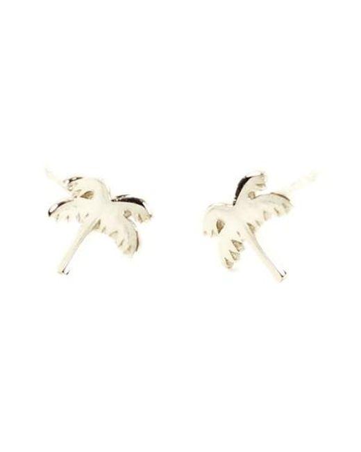 Kris Nations   Metallic Palm Tree Stud Earrings   Lyst