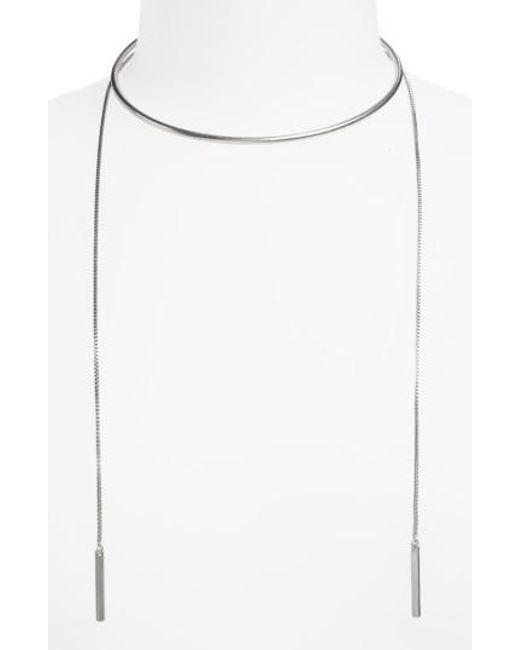 Madewell | Metallic Chain Choker Necklace | Lyst