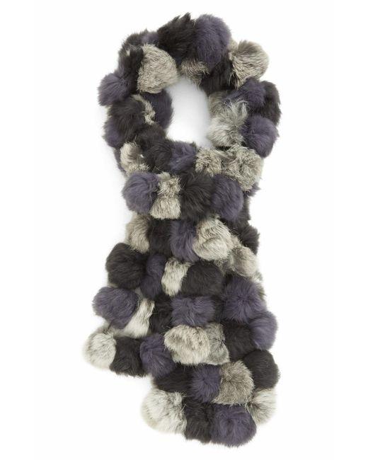 La Fiorentina - Gray Genuine Rabbit Fur Scarf - Lyst