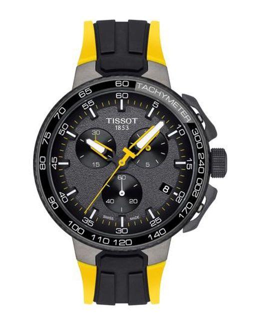 Tissot - Black T-race Tour De France Chronograph Silicone Strap Watch for Men - Lyst