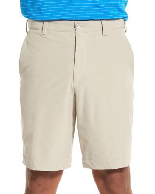 Cutter & Buck | Natural 'bainbridge' Drytec Flat Front Shorts for Men | Lyst
