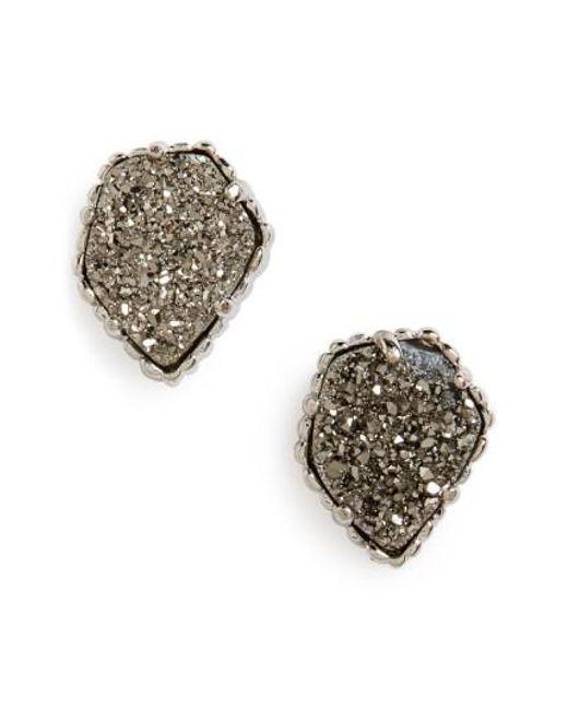 Kendra Scott | Blue Tessa Stone Stud Earrings | Lyst