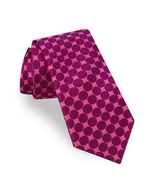 Ted Baker - Pink Geometric Circle Silk Tie for Men - Lyst