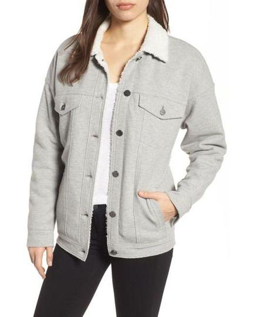 Kenneth Cole | Gray Knit Trucker Jacket | Lyst