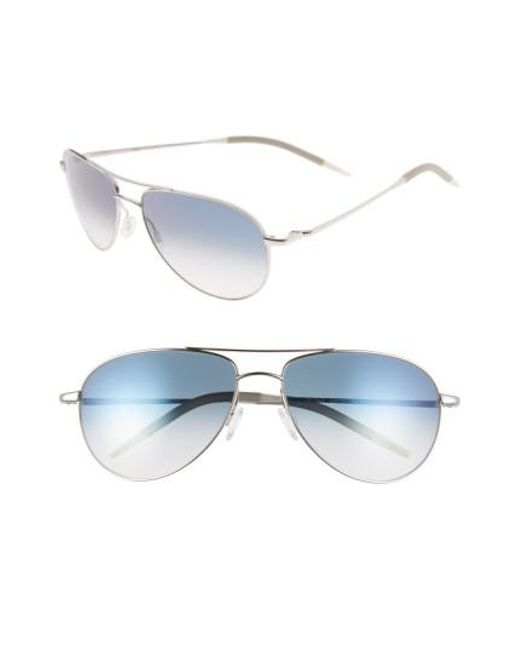 Oliver Peoples - Metallic 'benedict' 59mm Gradient Aviator Sunglasses - Lyst