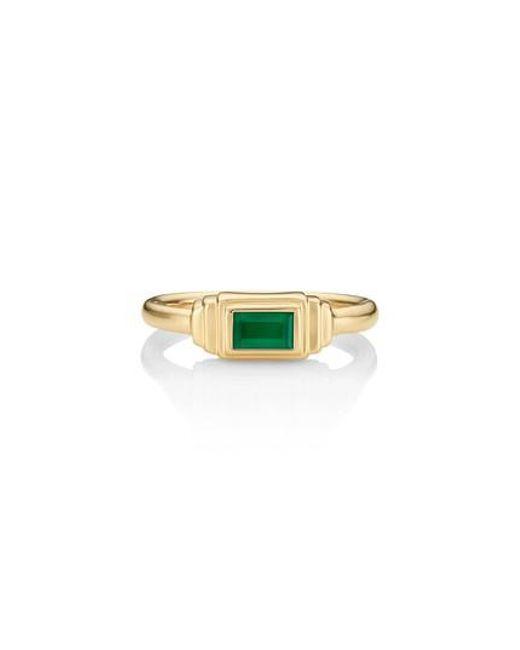 Monica Vinader - Metallic Baja Deco Semiprecious Stone Ring - Lyst