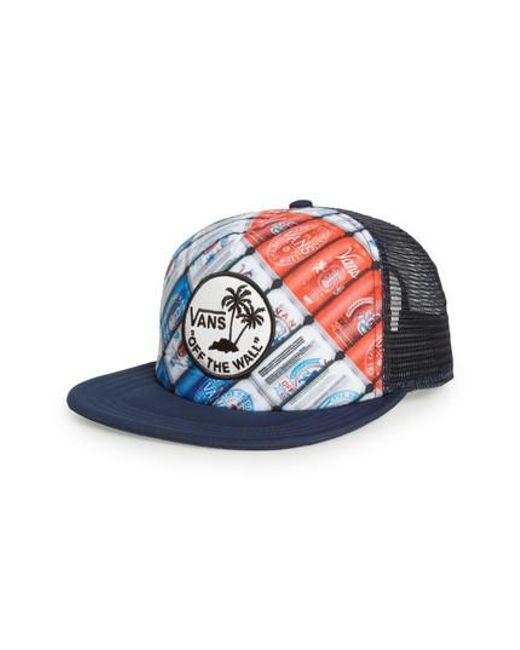 Vans - Blue Surf Patch Trucker Cap for Men - Lyst