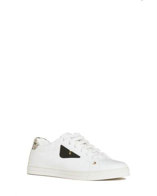 Fendi - White Bugs Sneaker - Lyst