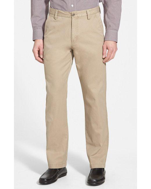 Cutter & Buck - Black Beckett Straight Leg Washed Cotton Pants for Men - Lyst